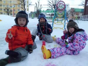 ❄いちごさんの雪遊び❄