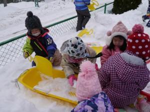 雪遊び☆汽車ポッポ