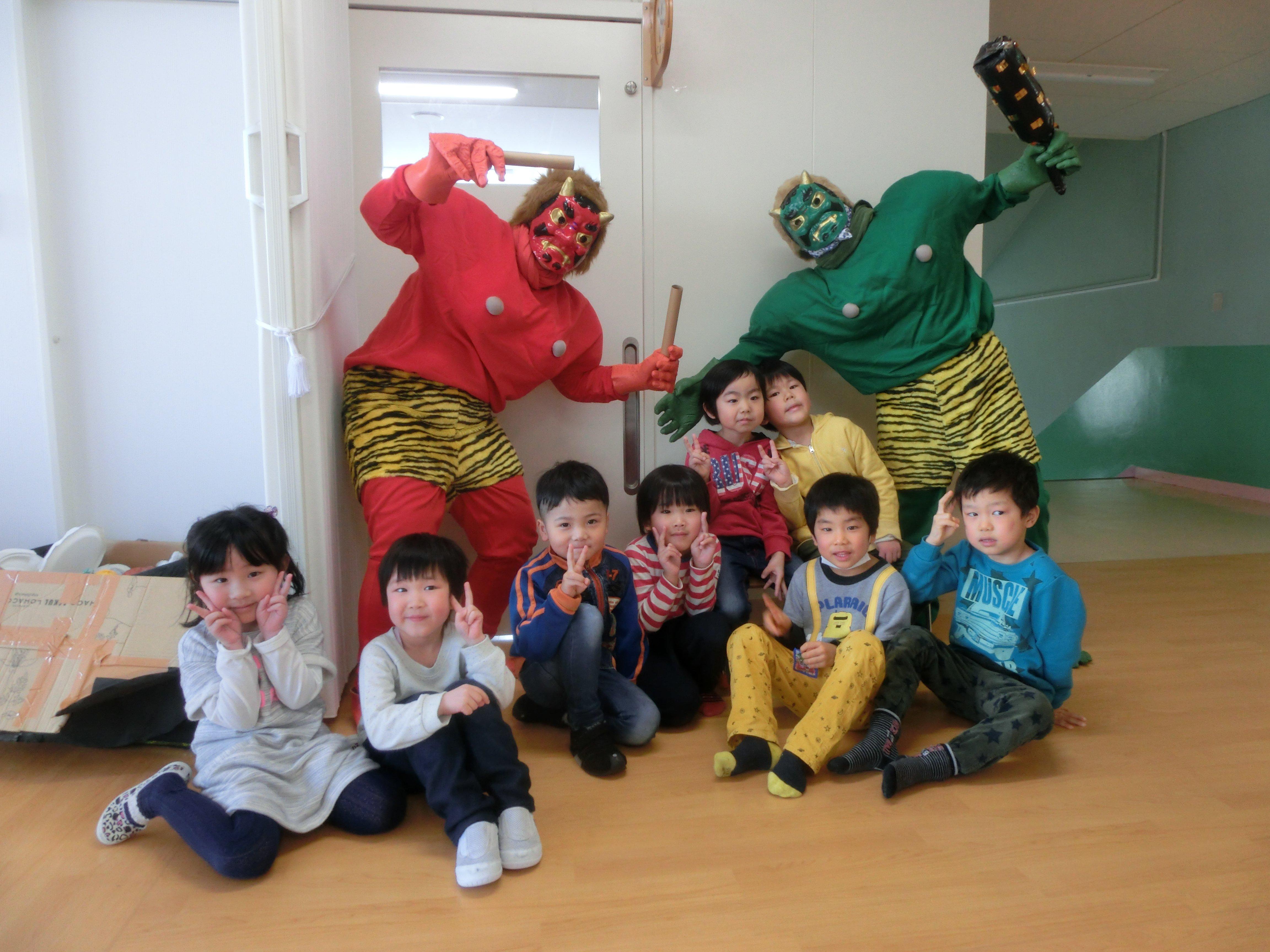 第一幼稚園に鬼がやって来た!!