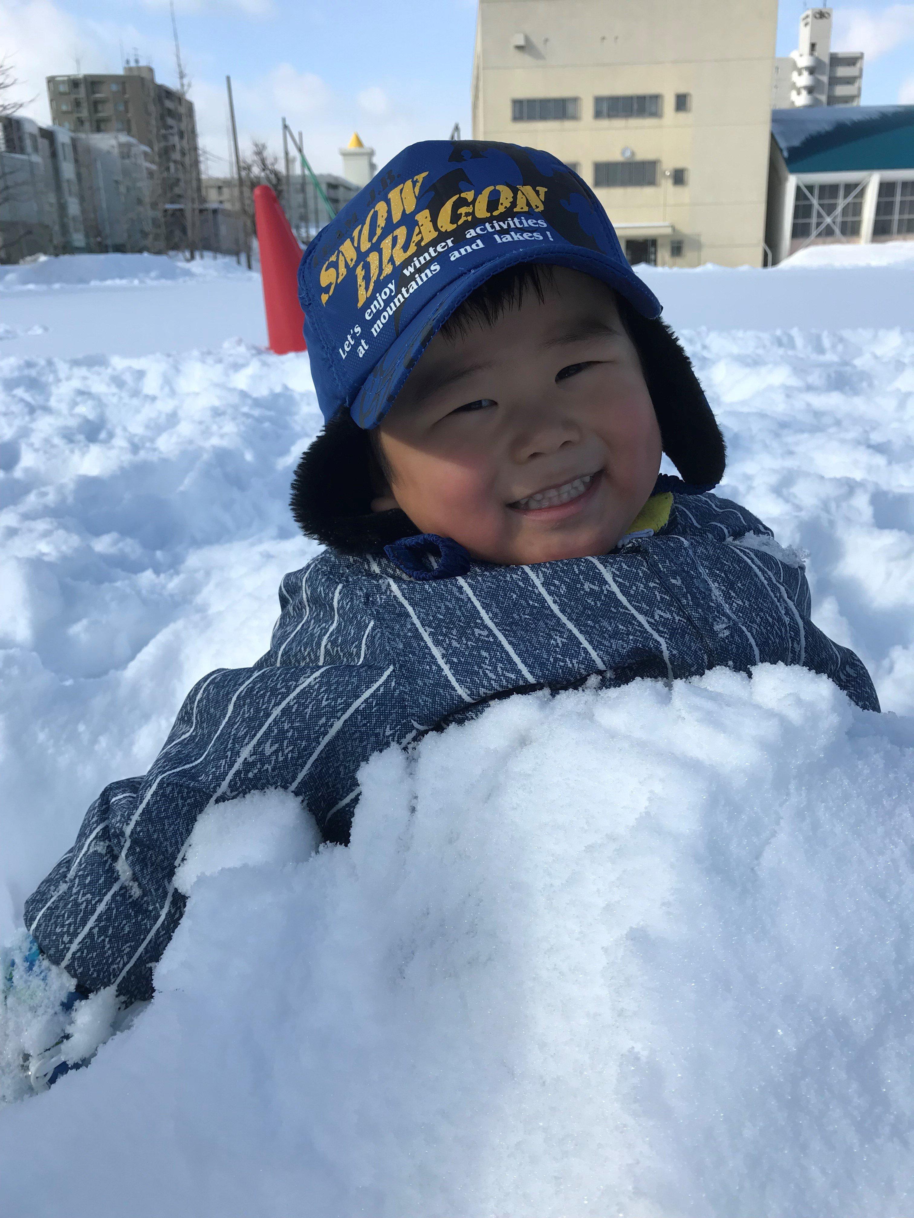 ダイナミックな雪遊び