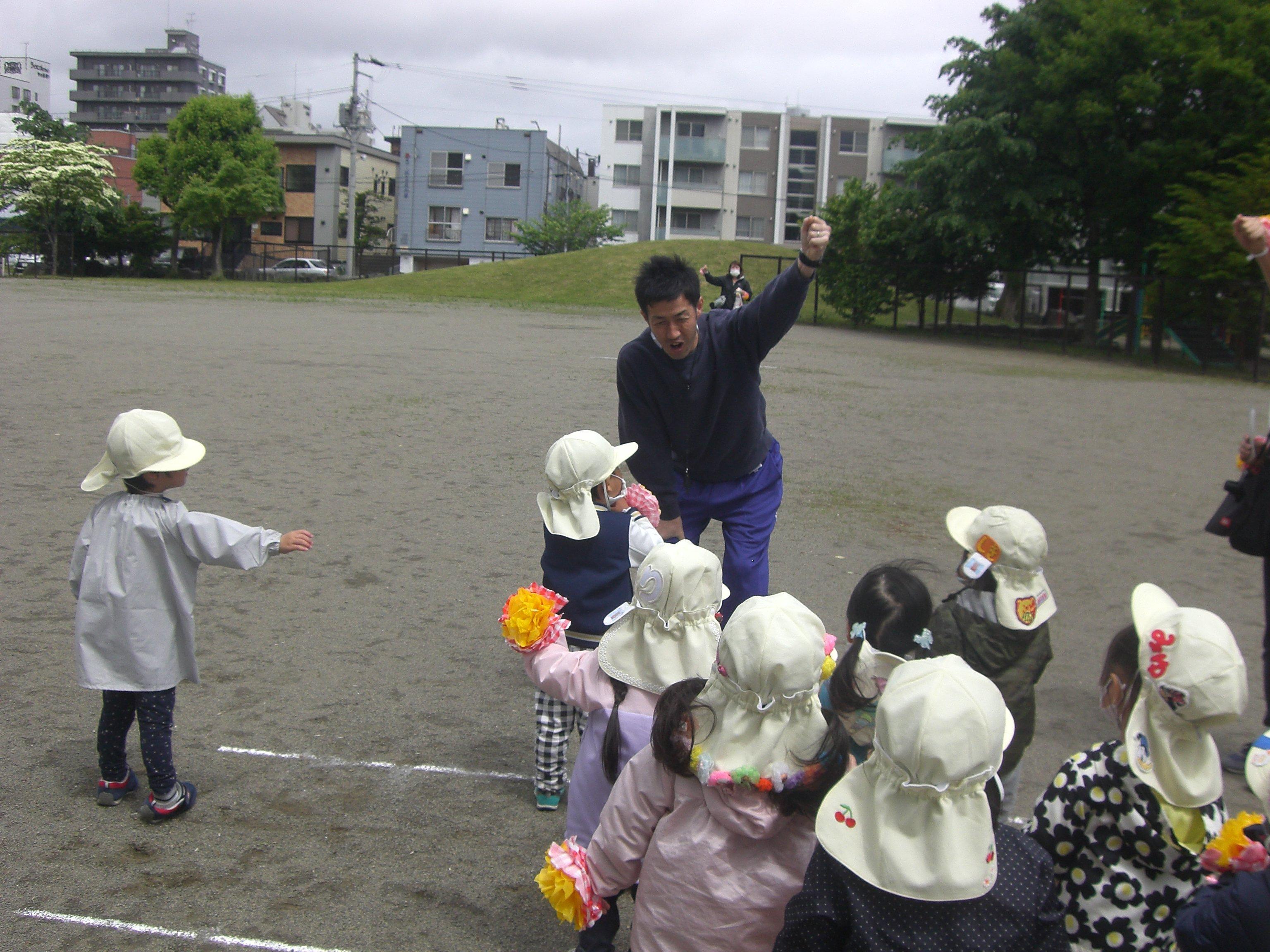戸外練習(*^_^*)