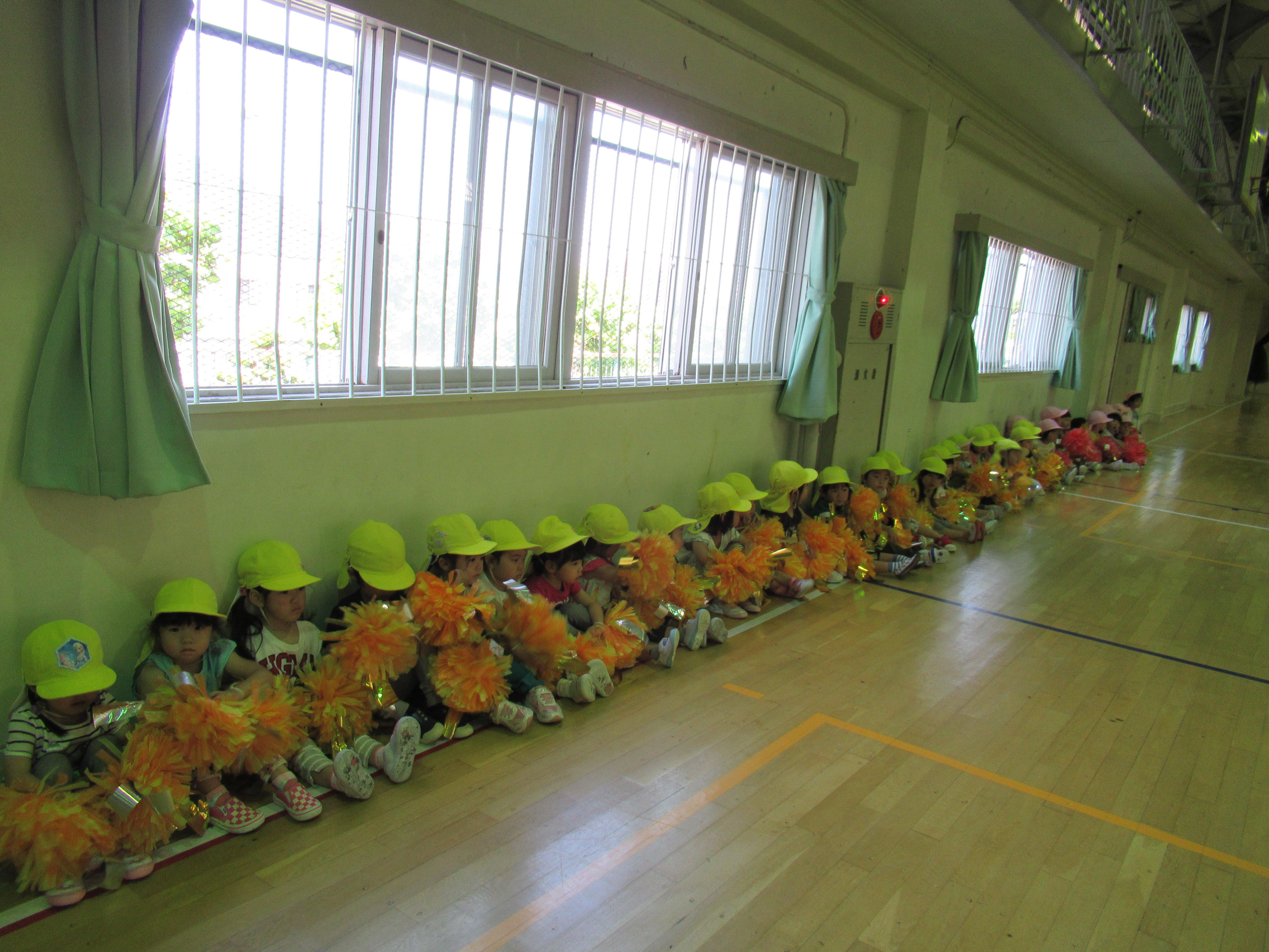 新陽高校で練習しました!