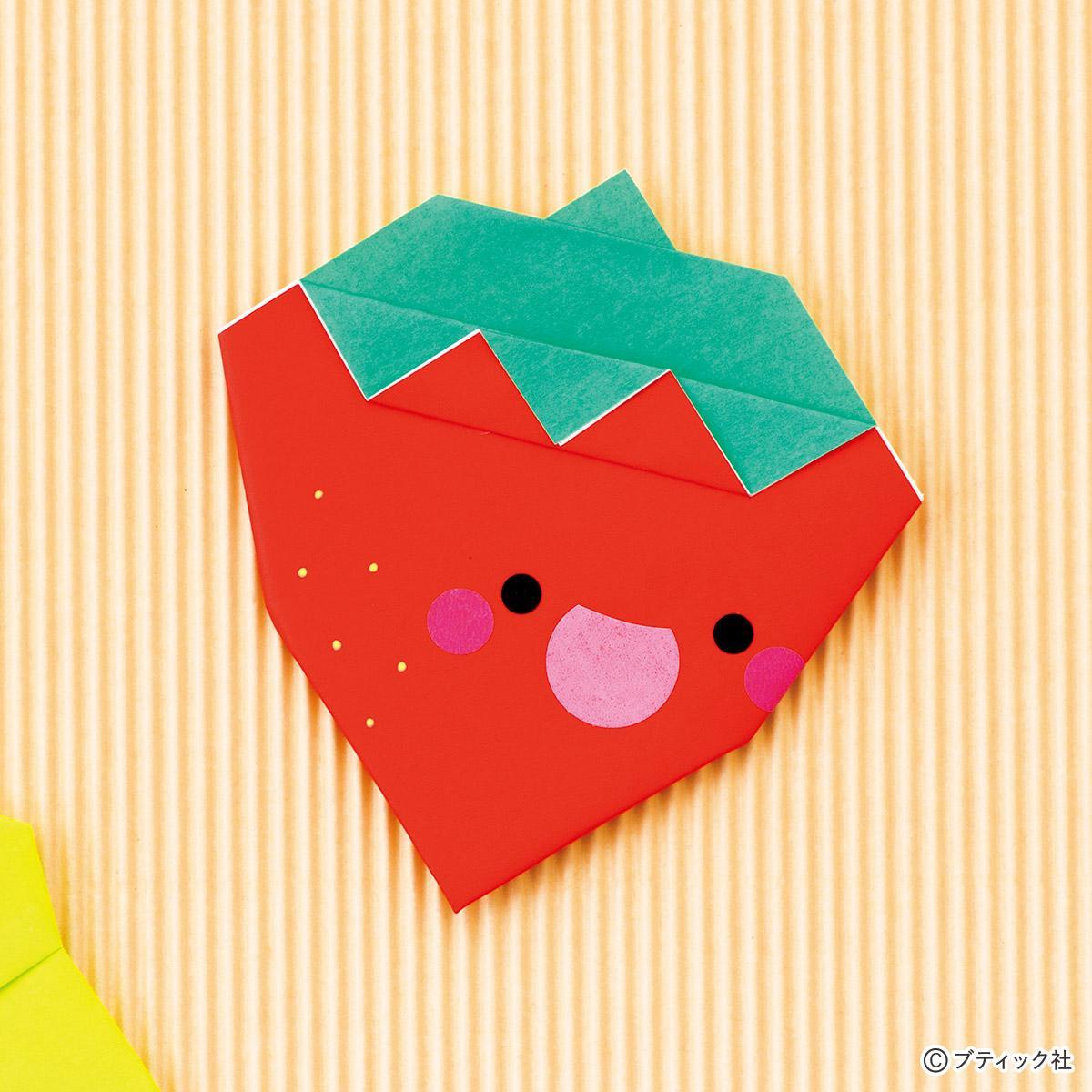 ★おうち時間★折り紙製作(いちご)