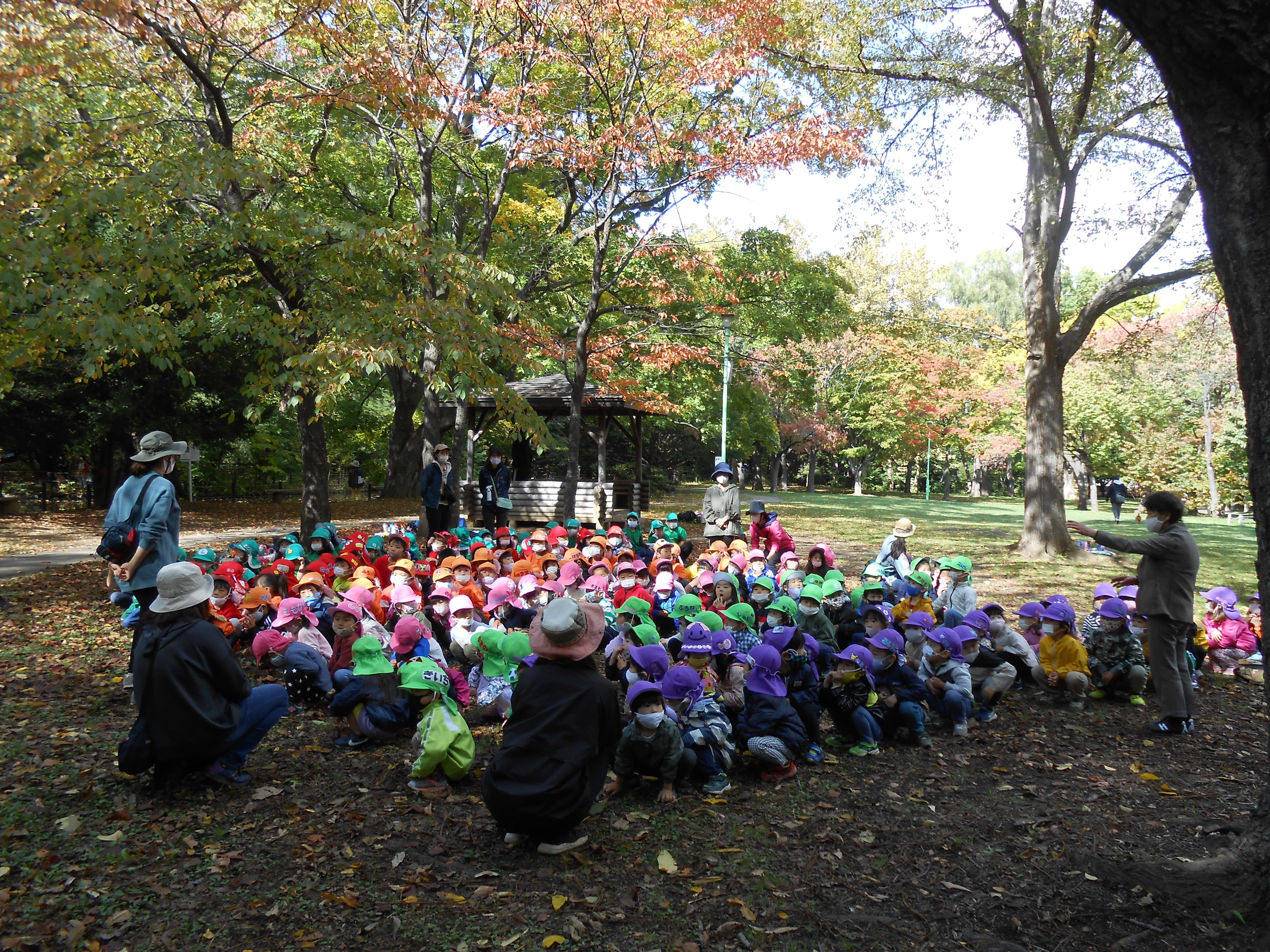 円山公園へ!(年中・年長)